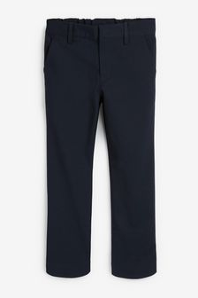 Navy Slim Waist Formal Stretch Skinny Trousers (3-17yrs)