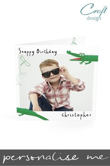 Personalised Alligator Birthday Single Card by Croft Designs