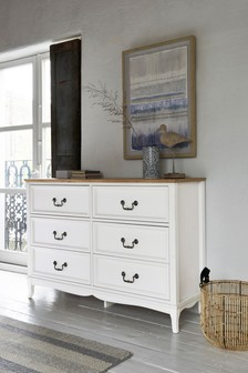Evie 6 Drawer Wide Chest