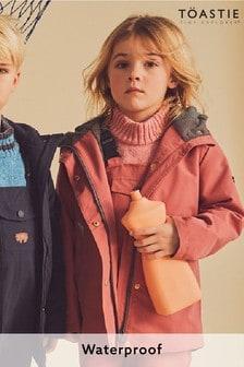 Töastie® Kids Rose Pink Waterproof Raincoat