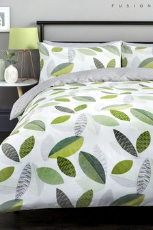 Tazio Leaves Duvet Cover And Pillowcase Set by Fusion