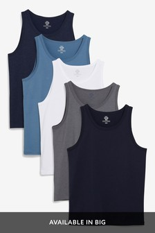 Blue Mixed Vests Five Pack