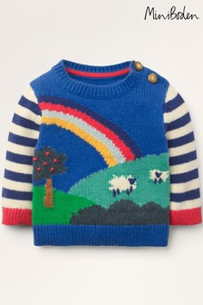 Boden Blue Fun Knitted Jumper