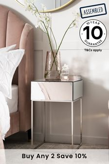 Mirror Sloane 1 Drawer Bedside Table