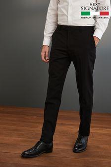 Black Slim Fit Signature Suit: Trousers