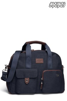 Navy Mamas & Papas Bowling Style Changing Bag