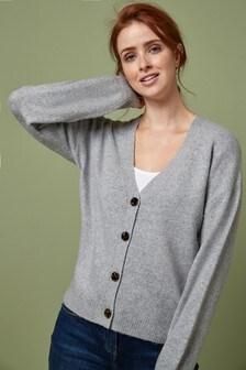 Grey Marl Soft Short Cardigan
