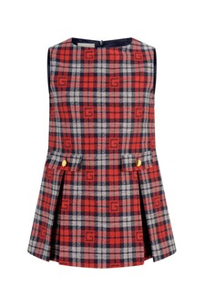 GUCCI Kids Girls Red Check Dress