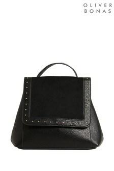 Oliver Bonas Black Linnie Studded Backpack