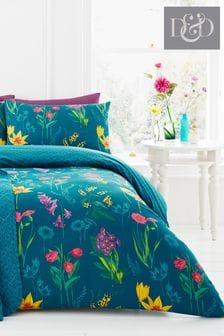 Ingrid Floral Duvet Cover And Pillowcase Set by D&D