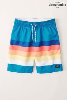 Abercrombie & Fitch Sunset Stripe Swim Shorts