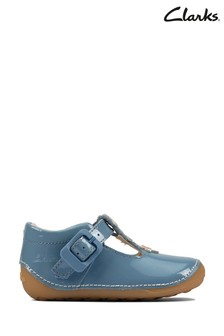 Clarks Mid Blue Tiny Flower T Shoes