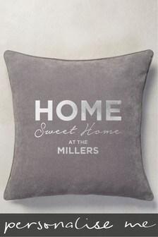 Personalised Soft Velour Cushion