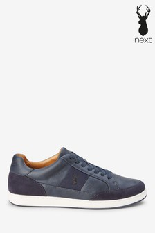 Navy Side Stripe Trainers