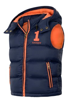 Boys Navy Padded Gilet