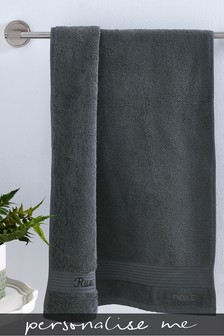 Personalised Charcoal Towel