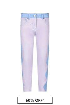 Stella McCartney Kids Girls Purple Cotton Jeans