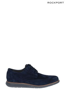 Rockport Navy Total Motion Sportdress Wingtip Shoes