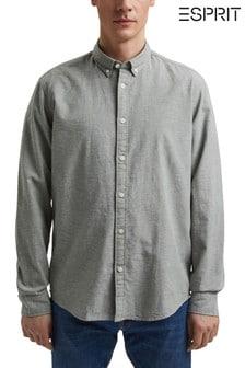 Esprit Green Cotton Linen Chambray Shirt