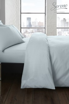Serene Plain Duvet Cover and Pillowcase Set