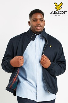 Lyle & Scott Plus Navy Harrington Jacket
