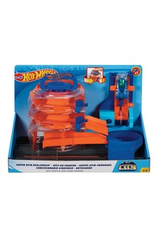 Hot Wheels City Super Sets Super Spin Dealership Play Set