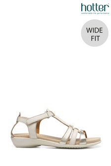 Hotter Sol II Wide Fit Touch Fastening Open Sandals