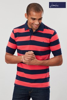 Joules Pink Filbert Striped Classic Fit Poloshirt