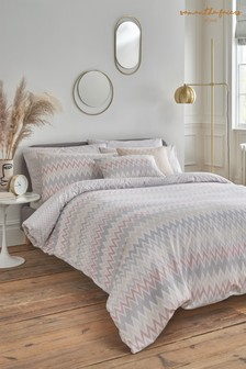 Sam Faiers Grey Delphine Rose Grey Duvet Cover and Pillowcase Set