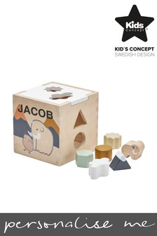 Personalised Shapes Toy Box by Swedish Concepts