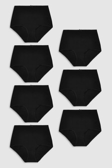 Black  Cotton Knickers Seven Pack