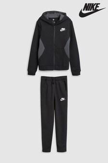 Black  Nike Brushed Fleece Tracksuit