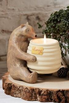 White Jasmine Bear Candle