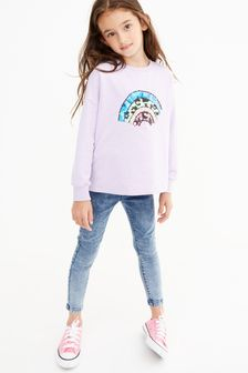 Lilac Embroidery Rainbow Top (3-16yrs)