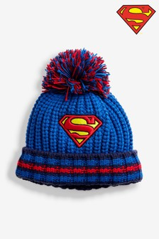 Blue Superman® Pom Beanie (Older)