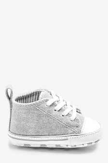 Grey Skate Lace-Up Pram Boots (0-24mths)