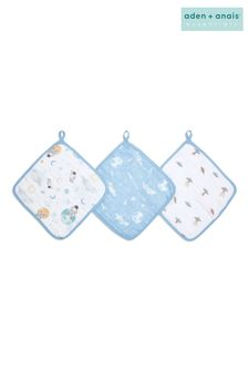 Aden + Anais™ Essentials Space Explorers 3 Pack Cotton Muslin Washcloth