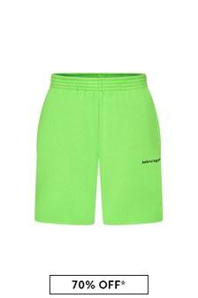 Balenciaga Kids Kids Green Cotton Shorts