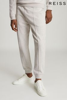 Reiss Grey Coventry Melange Jersey Joggers