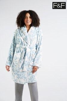 F&F Blue Floral Robe