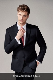 Navy Regular Fit Stretch Tonic Suit: Jacket