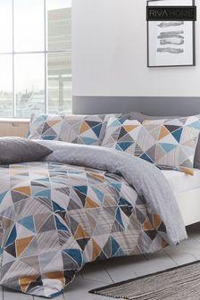 Riva Home Harlequin Geo Duvet Cover and Pillowcase Set