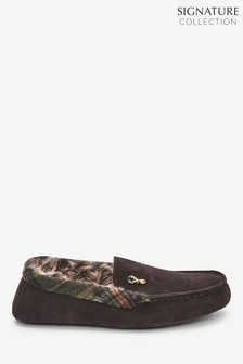 Brown Modern Heritage Moccasin Slippers