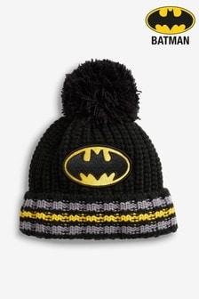 Black Batman® Pom Beanie Hat (Older)