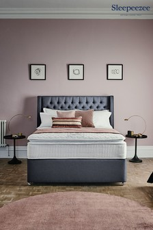 Charcoal 3200 Gel Mattress 2 Drawer Divan Set By Sleepeezee