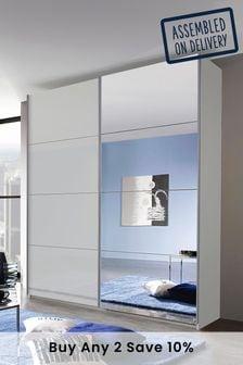 Grey Glass Mirror Courtney 1.81m Sliding Wardrobe By Rauch