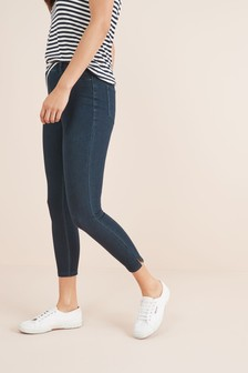 Denim Rinse Jersey Cropped Leggings