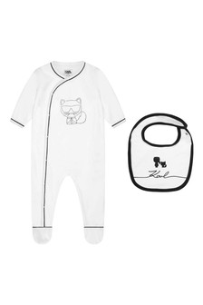 Baby Girls White Babygrow Gift Set