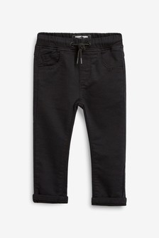 Black Pull-On Jersey Trousers (3mths-7yrs)