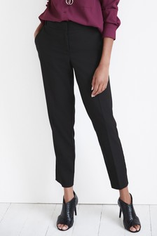 Black Tailored Slim Trousers